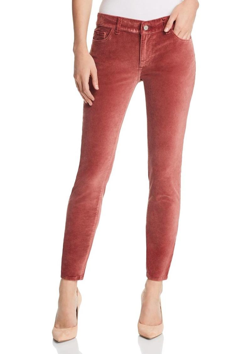 DL 1961 DL1961 Margaux Instasculpt Velour Ankle Skinny Jeans in Fervid