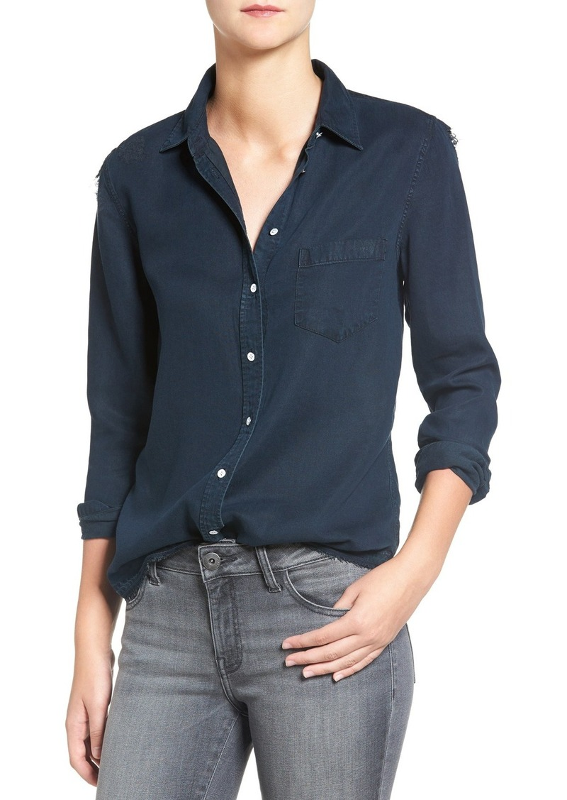 DL 1961 DL1961 'Mercer & Spring' Distressed Chambray Shirt