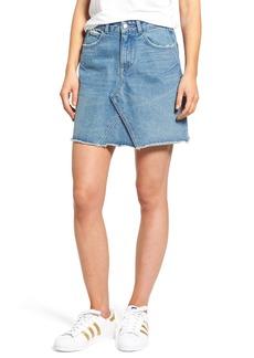DL1961 Parker High Waist Denim Miniskirt (Track)