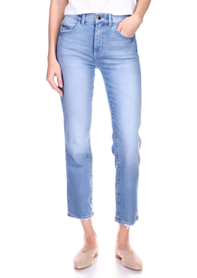 DL 1961 DL1961 Patti High Waist Ankle Straight Leg Jeans (Reef)