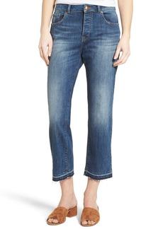 DL1961 Patti High Waist Crop Straight Leg Jeans (Staggered)