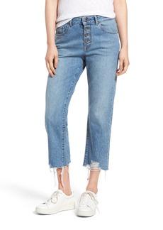 DL1961 Patti High Waist Crop Straight Leg Jeans (Vibrant)