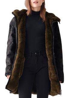 DL 1961 DL1961 Phoebe Camo & Faux-Fur Reversible Jacket