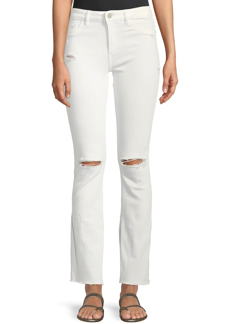 DL 1961 DL1961 Premium Denim Bridget Instasculpt Distressed Narrow Boot-Cut Jeans