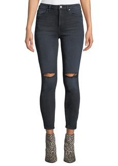 DL 1961 DL1961 Premium Denim Chrissy Ultra High-Rise Distressed Skinny Jeans