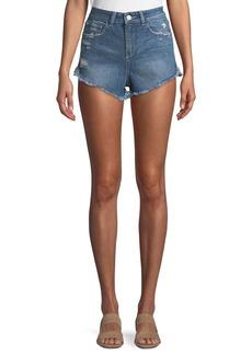 DL 1961 Cleo High-Rise Cutoff Shorts