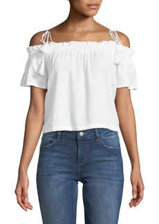 DL 1961 Cornelia Off-the-Shoulder Linen Top