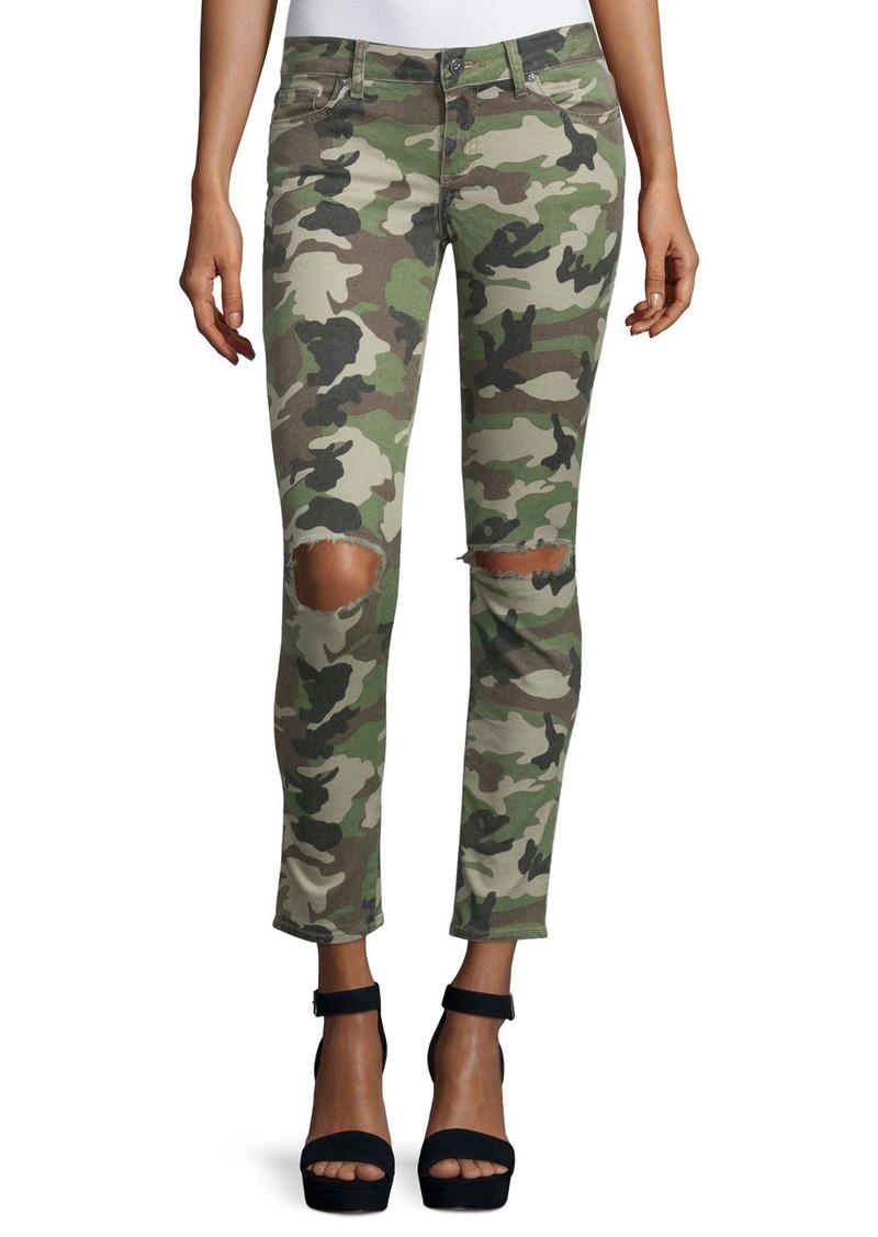 DL 1961 DL1961 Premium Denim Emma Camouflage Distressed Skinny Jeans