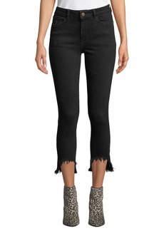DL 1961 DL1961 Premium Denim Farrow Cropped High-Rise Skinny with Chewed Hem