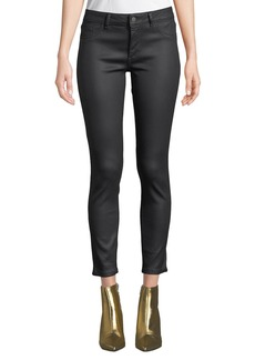 DL 1961 DL1961 Premium Denim Florence Ankle Mid-Rise Coated Skinny Jeans