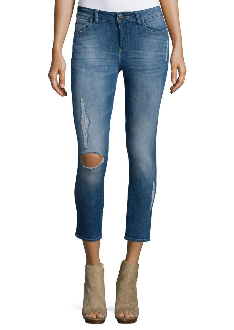 DL 1961 DL1961 Premium Denim Florence Distressed Skinny Cropped Jeans