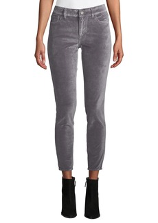 DL 1961 DL1961 Premium Denim Florence Velvet Ankle Mid-Rise Skinny Jeans