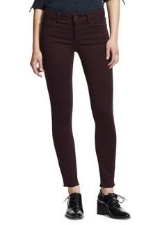 Frayed Hem Five-Pocket Jeans