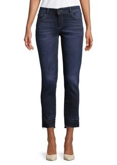 DL 1961 Fringe Cropped Jeans