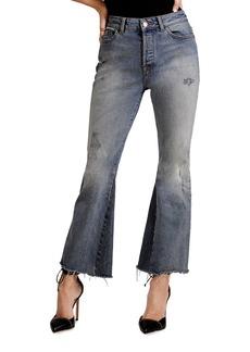DL 1961 DL1961 Premium Denim Jackie Trimtone Cropped Flared Jeans