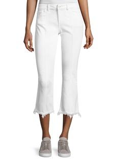 DL 1961 DL1961 Premium Denim Lara Instasculpt Cropped Flare Pintuck Jeans