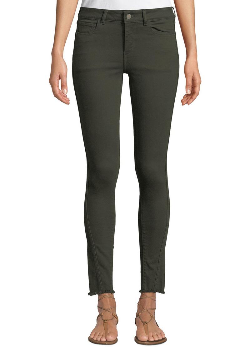 DL 1961 DL1961 Premium Denim Margaux Mid-Rise Instasculpt Frayed Skinny Jeans