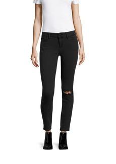 DL 1961 Margaux Skinny-Fit Distressed Jeans
