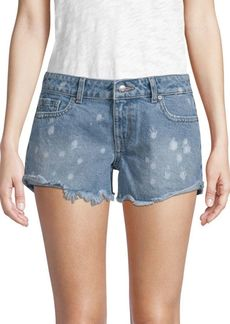 DL 1961 Renee Distressed Cotton Shorts