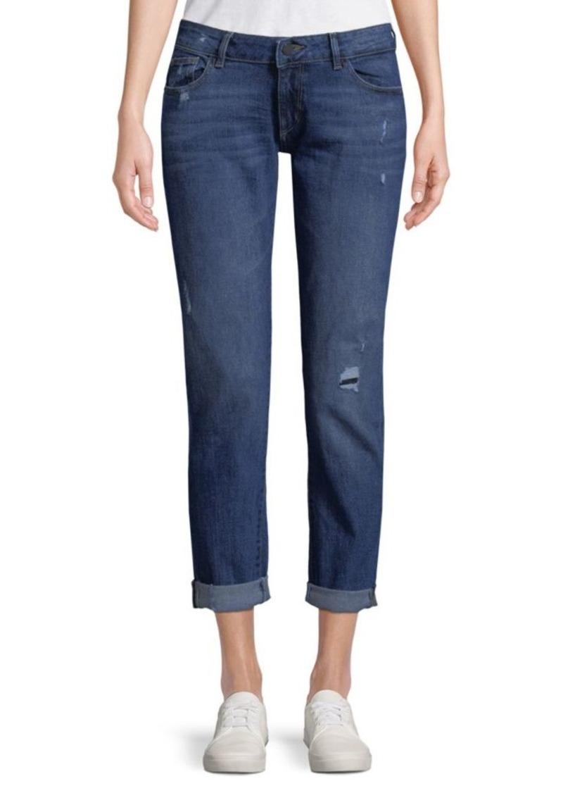 DL 1961 Riley Boyfriend Cropped Jeans