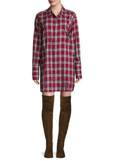 DL 1961 DL1961 Premium Denim Rivington & Essex Plaid Shirt Dress
