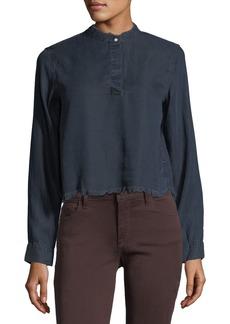 DL 1961 DL1961 Premium Denim W 3rd & Sullivan Long-Sleeve Crop Shirt