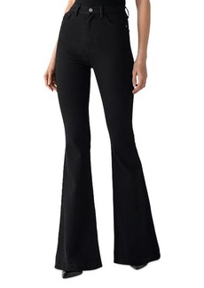 DL 1961 DL1961 Rachel Ultra High Rise Flare Jeans in Hopper