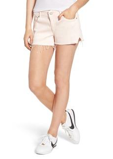DL 1961 DL1961 Renee Notch Raw Hem Denim Shorts (Blush Pink)