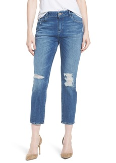 DL 1961 DL1961 Stevie Distressed Crop Slim Boyfriend Jeans (Rebel)