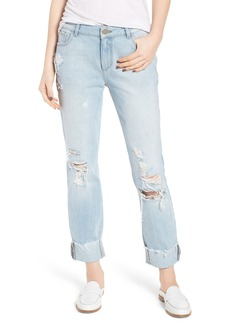 DL1961 Stevie Ripped Crop Slim Boyfriend Jeans (Drift)