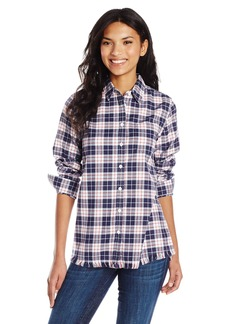 DL 1961 DL1961 Women's Blue Shirt Shop Mercer and Spring Regular Top in Plaid Blue Red/Amp White Plaid M