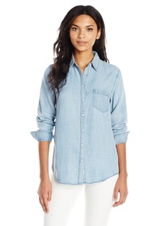 DL 1961 DL1961 Women's Blue Shirt Shop Mercer and Spring Regular Top  XS