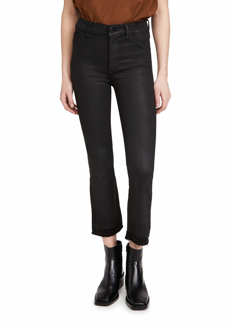 DL 1961 DL1961 womens Bridget Boot High Rise Instasculpt Crop Jeans   US