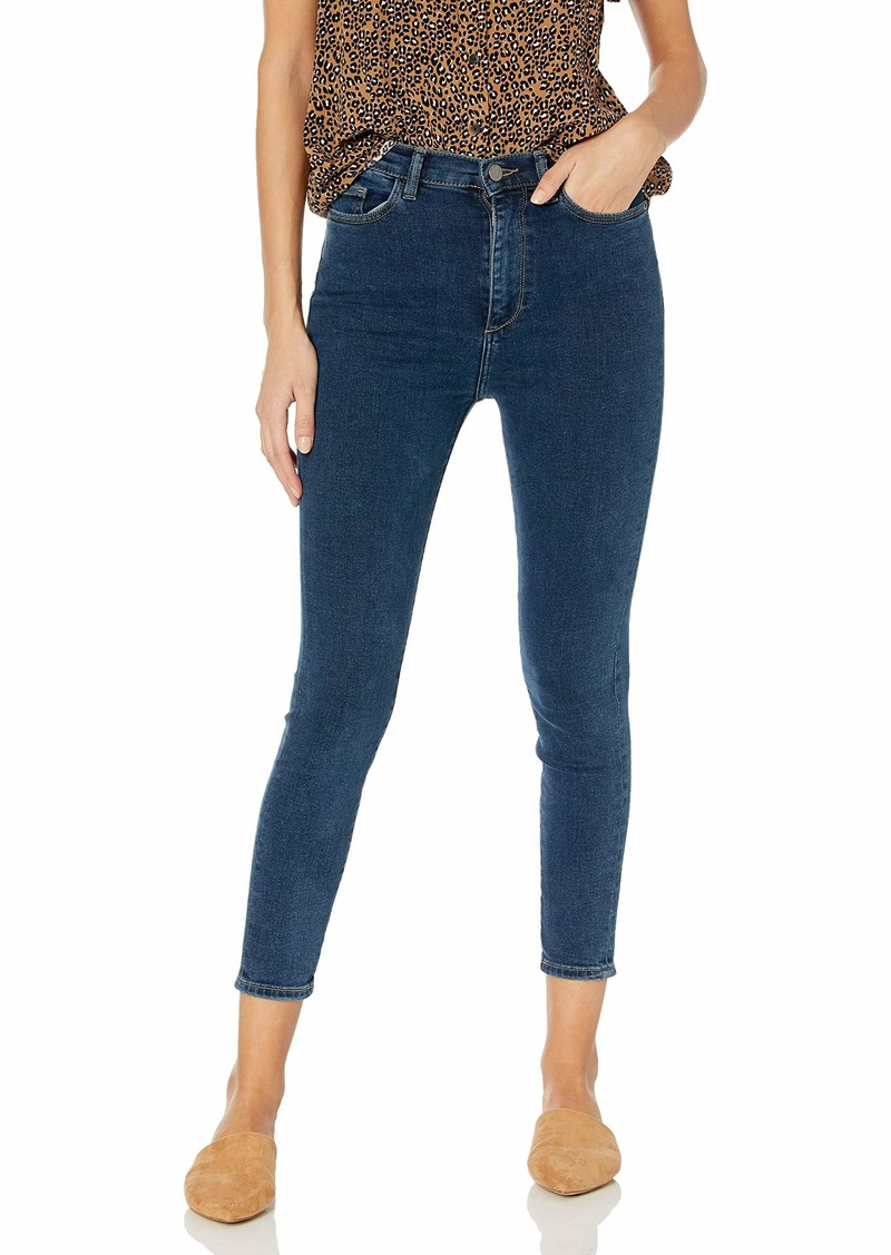DL 1961 DL1961 Women's Chrissy Instasculpt High Rise Skinny Fit Cropped Jean