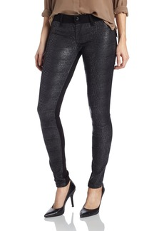 DL1961 Women's Emma Snake Print Embossed Skinny Jean in