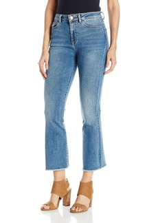 DL 1961 DL1961 Women's Jackie Trimtone Cropped Flare Jeans