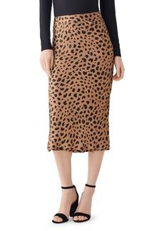 DL 1961 DL1961 x Marianna Hewitt Bank St. Animal-Print Silk Midi Skirt