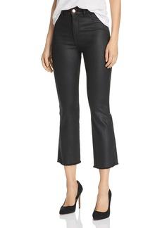 DL 1961 DL1961 x Marianna Hewitt Bridget Coated High-Rise Crop Boot Jeans in Sonoma