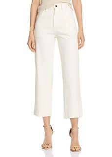 DL 1961 DL1961 x Marianna Hewitt Hepburn High-Rise Cropped Wide-Leg Jeans in Sutter
