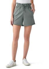 DL 1961 DL1961 Yara Drawstring Stretch Cotton Denim Shorts