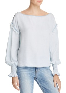 DL 1961 DL1961 York St Chambray Boatneck Top
