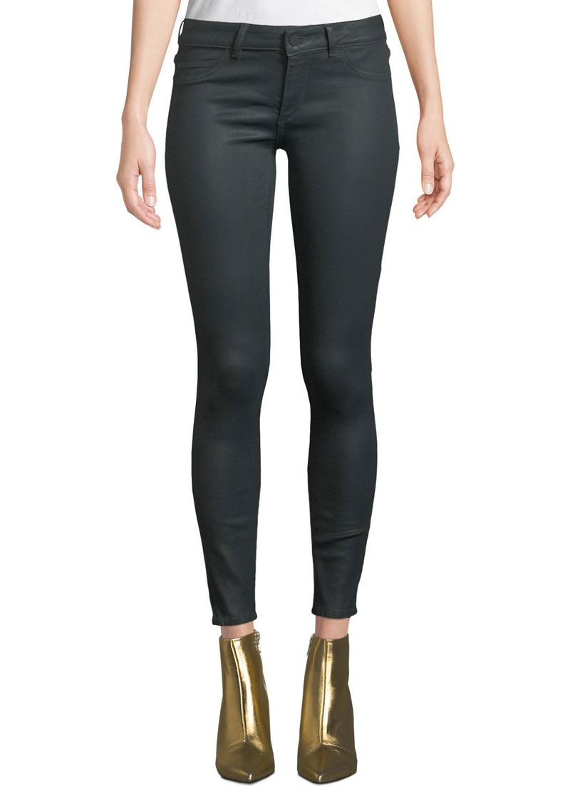 DL 1961 Emma Low-Rise Coated Skinny Jeans
