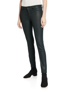 DL 1961 Emma Low-Rise Skinny Coated Jeans