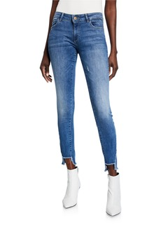 DL 1961 Emma Power Legging Step Raw Edge Jeans