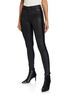 DL 1961 Farrow Coated Ankle High Rise Skinny Jeans