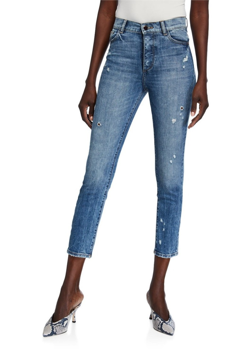 DL 1961 Farrow Cropped Vintage High Rise Skinny Jeans