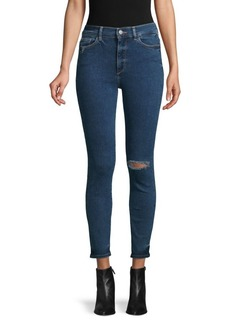 DL 1961 Farrow High-Rise Ripped Skinny Ankle Jeans
