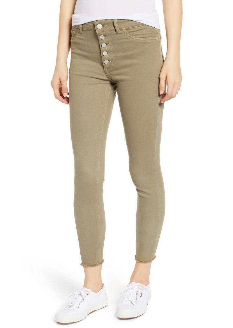 DL 1961 Farrow High Waist Crop Skinny Jeans (Seagrass)