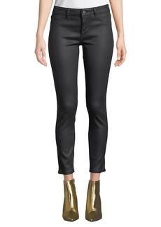 DL 1961 Florence Ankle Mid-Rise Coated Skinny Jeans