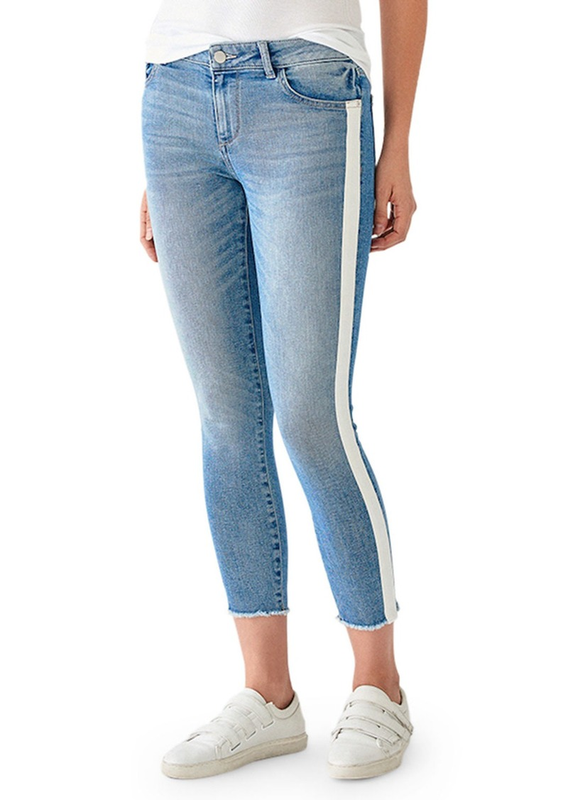 DL 1961 Florence Crop Mid-Rise Skinny with Racer Stripes